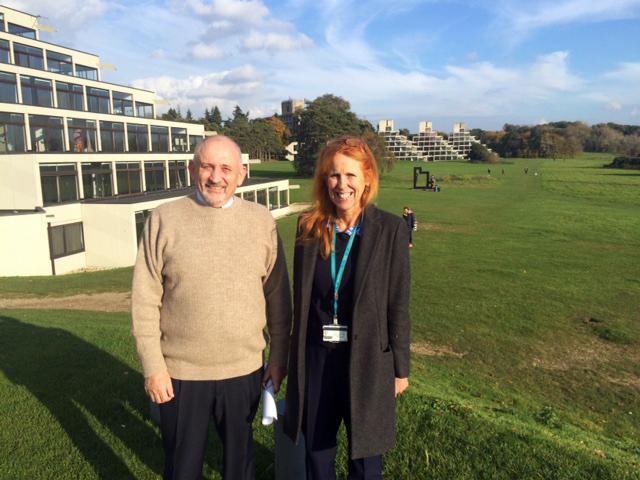 Professor Nigel Marsh with Professor Sian Coker at UEA