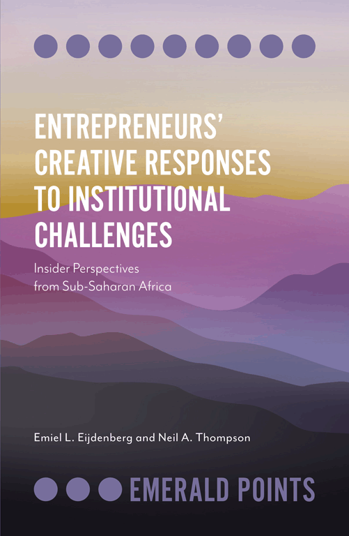 entrepreneurs creative responses to institutional challenges book cover