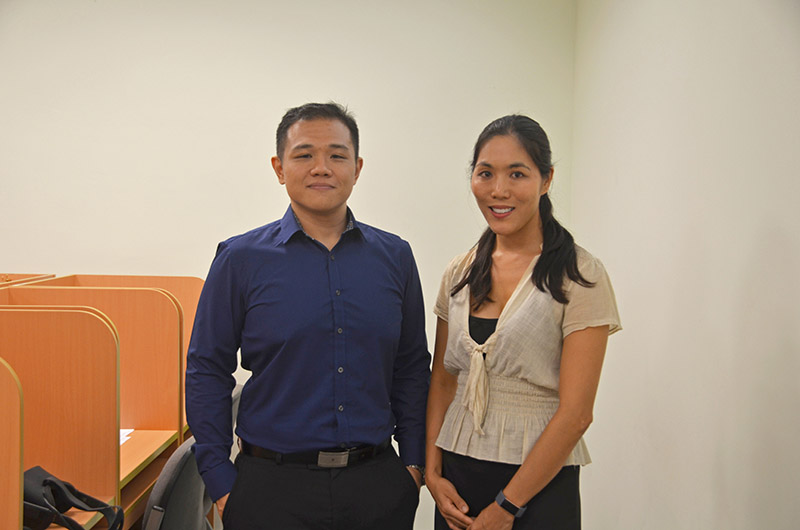 Victor Wong with his Doctoral research advisor, Senior Lecturer in Psychology Dr Bridget McConnell