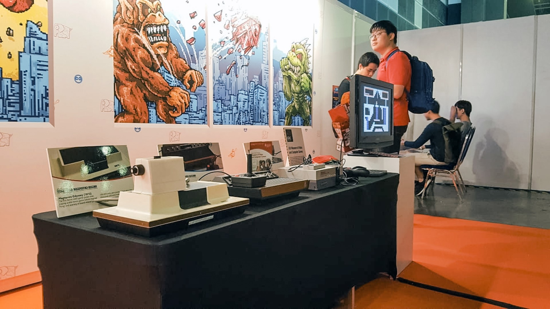 """""""Retro City"""" display at JCU Museum of Video and Computer Games"""