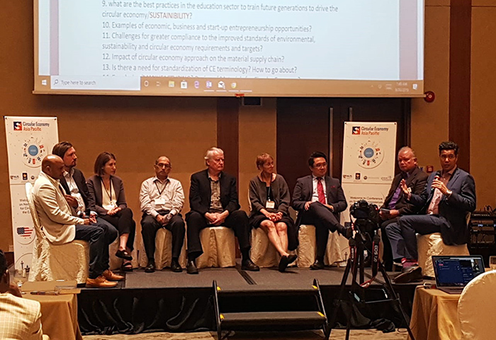 Members of the panel discussion at Circular Economy Opportunities and Gaps conference