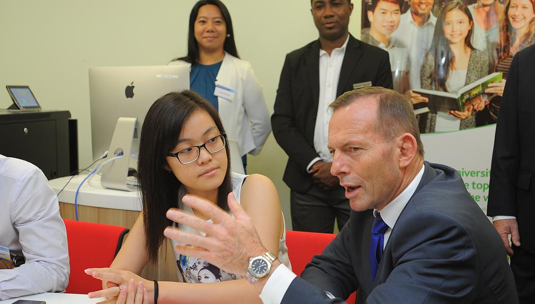 Australian Prime Minister Tony Abbott Opens Our Campus